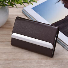 PU Leather Metal Slim Business ID Credit Card Wallet Holder Pocket Box Case Pro