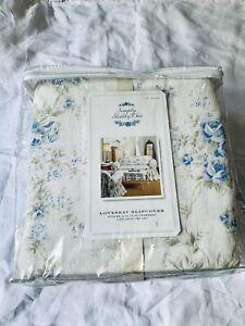 Rachel Ashwell Simply Shabby Chic 2004 British Blue Rose Loveseat Slipcover~ New