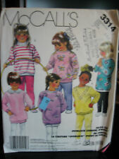 Vintage McCall's 3314 Girl's Dress, Top, Dickey & Leggings Pattern - Sizes 4/5/6