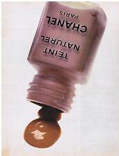 PUBLICITE ADVERTISING 054 1976 CHANEL fond de teint naturel