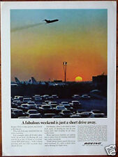 Orig 1966 Advert BOEING Jets 50th Anniversary Year