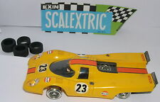 SCALEXTRIC EXIN C-46 PORSCHE 917  #23  AMARILLO    EXCELENTE  CONDICION