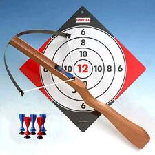 Armbrust aus Holz groß für Kinder mit 3 Saugnapf-Pfeilen + 3 Pfeile gratis dazu