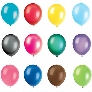 """12"""" INCH LATEX HELIUM QUALITY BALLOONS FOR PARTY WEDDING BIRTHDAY 27 COLOURS"""
