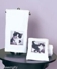 Black White Kitten Baby Cat Pet Collage Bath Hand Towel Set Keith Kimberlin