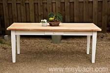 Esstisch Massivholz Landhaustisch Esszimmer Küche 150 cm M01 weiß natur Neu