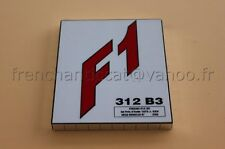 AD voiture 1/43 socle Ferrari F1 312 B3 GP Italie 1973 Rouge J Ickx  Heco