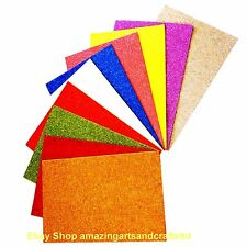 "Craft Foam Sheets A4, ""Glitter"" 10 Sheets Assorted Colours"