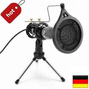 Kondensator Microphone Handy PC Mikrofon Kit Komplett Set für Studio Podcast DHL