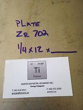 """Zirconium Plate 702  .250"""" x 12"""" x 2"""""""