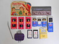 Vintage Sewing Needle Advertising Packages