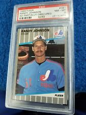 1989 Fleer AD PARTIALLY OBSCURED Randy Johnson ROOKIE RC #381 PSA 8 Expos