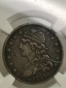 1834 Capped Bust Liberty 25c Quarter Dollar US Coin NGC VF DETAILS