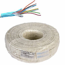 ELECTRIC CABLE WIRE SHIELDED ALARM FIRE RETARDANT SECTION 4x0,22 HANK 100 METERS