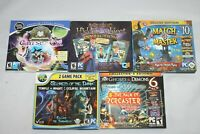 5 New Sealed Hidden Object Computer PC CD Rom Games DVD Video Game Windows