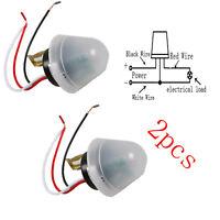 2pcs 12V Light Sensor Auto Operated Control Switch Street Road DC/AC