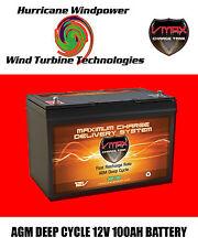 VMAX SLR100 AGM Deep Cycle 12V 100AH Battery for Synthesis Renogy PV SOLAR PANEL