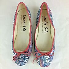 FRENCH SOLE ballet flats paisley print summer floral henrietta 39 UK 6 5.5