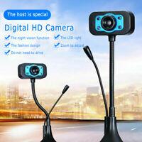 HD Webcam USB Digital Web Cam Camera Bluetooth Computer PC Laptop Desktop w/Mic