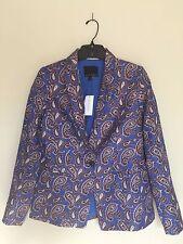 Banana Republic Women Long sleeves Paisley Print Jacket  Size 0 New With Tag