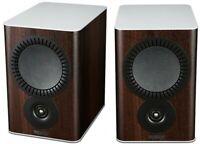 Mission QX-2 Bookshelf Speakers - Walnut Pearl Compact Home Loudspeakers
