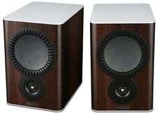 Mission QX-2 Bookshelf Speakers - Walnut Pearl Compact Home Loudspeakers