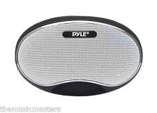 Powered External Mini Audio Speaker w/ FM Radio USB/MicroSD MP3 Playback PSPFM1B