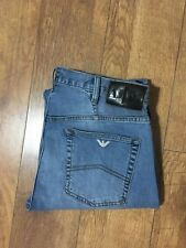 Men's Armani Jeans J21 Stretch Denim Blue M/Rise Button W33 L25 H8 Vgc