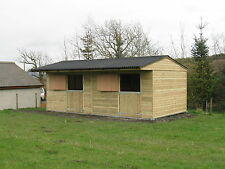 Double stable block, Stables, Horses, field shelter 12x24 VA013