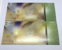 (2) TWO KaratBar KaratPay Gold 0.1 Gram Bar .9999 Fine - Nadir Gold (NEW)