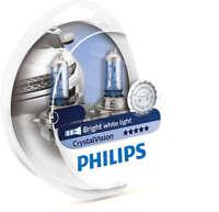 PHILIPS H4 9003 HB2 Crystal Vision 60/55W 12V P43t 12342CVSM 2 bulbs H4+ 2 W5W