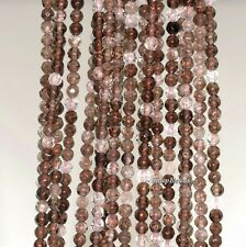 """3MM  SMOKY QUARTZ GEMSTONE FACETED ROUND 3MM LOOSE BEADS 15.5"""""""