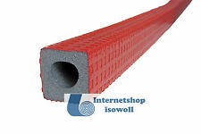 Rohrisolierung Dämmhülse rot eckig, Rohr 18mm / Dicke 9mm, je 2 x 1 Meter