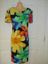 AGB Wear to Work Floral Print Short Sleeve Shift Dress Sz 12