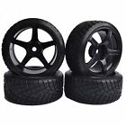 4PCS RC 1:10 On-Road Drift Car Tyre Tires & Wheel Rim Hard Plastic 9077-6013