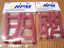 RPM 80249 Front & 80599 Rear Red A-Arms 1/10 Traxxas Slash 2wd VXL & XL5 Raptor