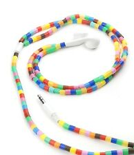 Kikkerland Multicoloured Bead Ear Buds Phone Tablet MP3 Player iPhone Headphones