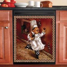 Beautiful Country Decor Kitchen Dishwasher Magnet - Cute Italian Chef #2