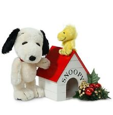 "9.5"" SNOOPY & 3"" WOODSTOCK w/Wooden Doghouse - MOHAIR, JOINTED Limited Ed - NEW!"