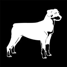 ROTTWEILER Dog Decal For Pet Car or Truck Bumper Sticker or Windshield WHITE