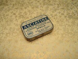 Ancienne Boîte de Médicaments Asciatine  Pharmacie en Tôle
