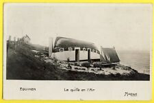 cpa France 62 - EQUIHEN Maison BATEAU Boat Returned Studio PAINTER Paul CHRISTOL