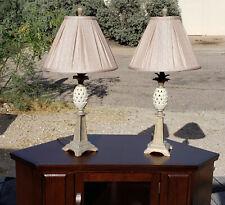 Lenox Quoizel Ivory Porcelain Pineapple Lamp w/ Shade Very Nice