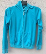 $62 NWT T2Love Brand Blue Terry Cloth Long Sleeve Hoodie Sweatshirt Size 10