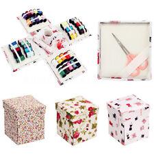 54PCS Fold Up Box Sewing Pack Kit Needle Thread Set Tape Measure Scissor Thimble