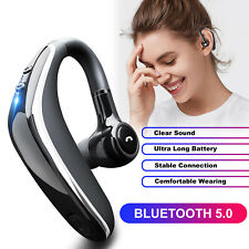 New listing Wireless Bluetooth 5.0 Earpiece Noise Cancelling Driving Trucker Headset Earbuds