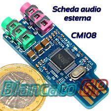 SCHEDA AUDIO ESTERNA USB CON INGRESSO MICROFONO CM108 PC PORTATILI NOTEBOOK
