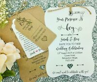 Wedding Invitation Bundle, Shabby Chic, Rustic, Vintage, Key Charm