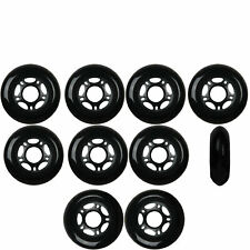 Inline Skate Wheels 80mm 82A Black Outdoor Roller Hockey Rollerblade 10 Pack