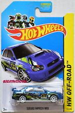 HOT WHEELS 2014 ROAD RALLY HW OFF-ROAD SUBARU IMPREZA WRX BLUE